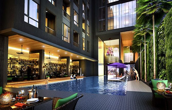 Up-Ekamai-Bangkok-condo-for-sale-sky-pool-sky-garden